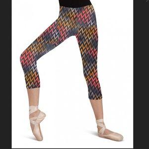 capezio Other - New Capezio Adult Dance Knee capris - chevron - L