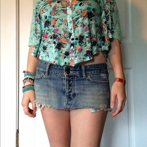 811d5cb9c Shortest Hollister mini skirt ever! Denim sexy 3