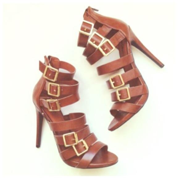 7ba6f38377c ⚡️MOSSIMO ⚡️Strappy heels Sapphire in Cognac NEW