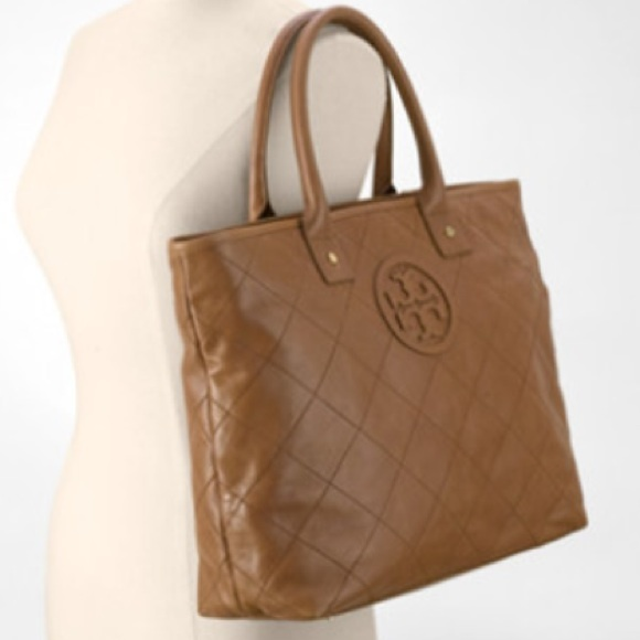 38968ab33633 Tory Burch Taupe Jaden Quilted Tote. M 55a18ec15020b91605005bb0