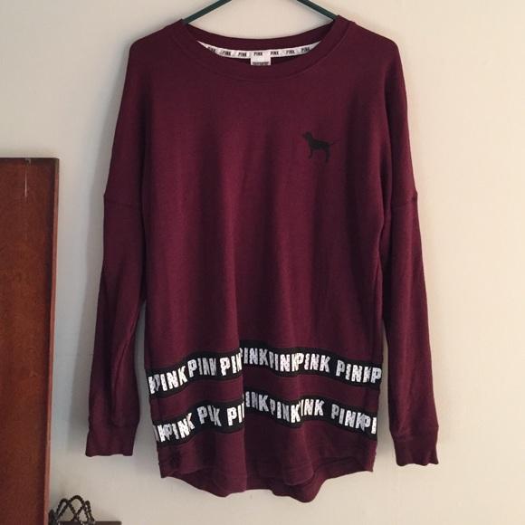 PINK Victoria's Secret - Maroon Pink Vs Sweatshirt! from Lexi's ...