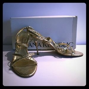 Banana Republic Gold Sandals