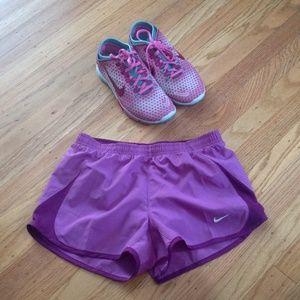 Nike running shorts purple