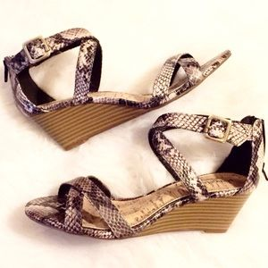 Merona Shoes - Snake Embossed Wedge Sandals