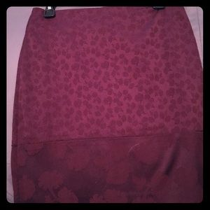 Cute maroon pencil skirt!