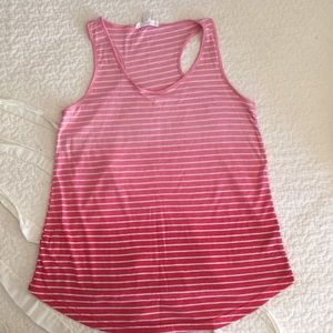 Forever 21 Tops - Pink Ombré Tank with Stripes size S