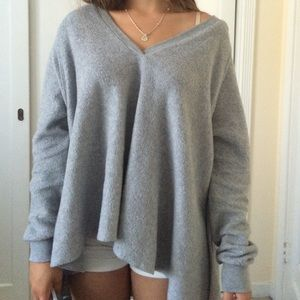 Urban outfitters last chance grey and neon sweater tunic from miss