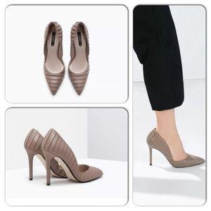 Zara Nude Mink Faux Shoe size 6.5