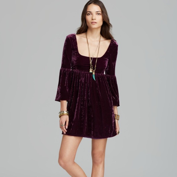 Free People - *Bundled*Free People Purple Velvet Dress from ...