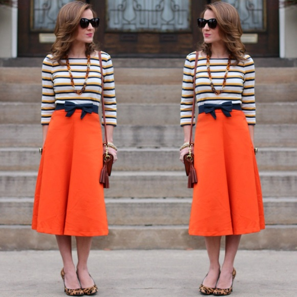 37% off H&M Dresses & Skirts - H&M Orange Midi Skirt from * tam's ...