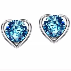 Jewelry - Blue Crystal Lead & Nickel Free Earrings