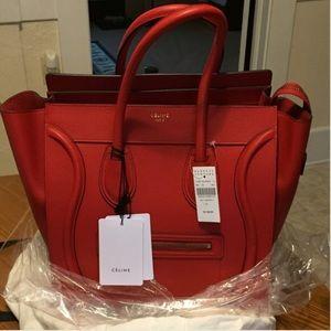 """Celine Handbags - 100% Authentic Celine """"Mini"""" Luggage Tote"""