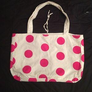 White Victoria's Secret Pink Reversible Tote Bag