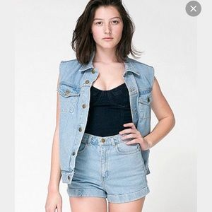 American Apparel Jeans - AMERICAN APPAREL denim shorts