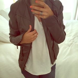 Zara Jackets & Blazers - Faux Leather Gray Jacket