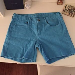 Madewell Other - Madewell Turquoise Cut off Shorts