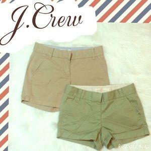 J.Crew SZ.0 Khaki Shorts Bundle (2 Pairs)