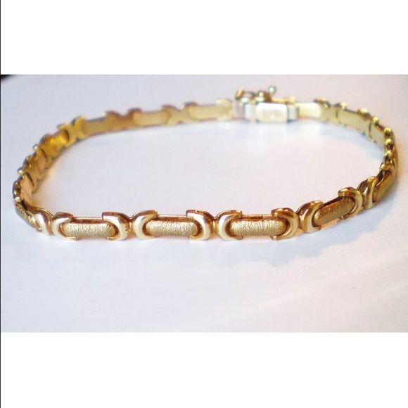 T J Kong Ride The Bomb: ϸ�sold ϸ� Gold Bracelet, Made In