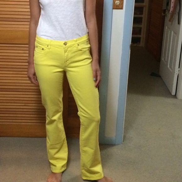 63% off J. Crew Denim - J Crew Yellow Bootcut Jeans from Mary's ...