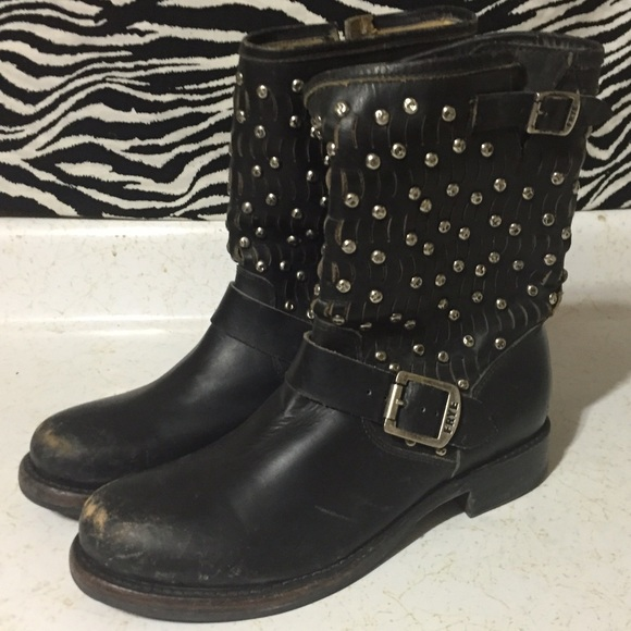 cheap sale authentic cheap collections Frye Studded Leather Boots release dates cheap online cheap cost lowest price online m2JPvQ