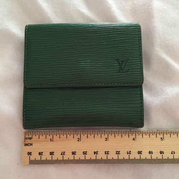 Louis Vuitton Handbags - Authentic LV Epi Green double snap wallet