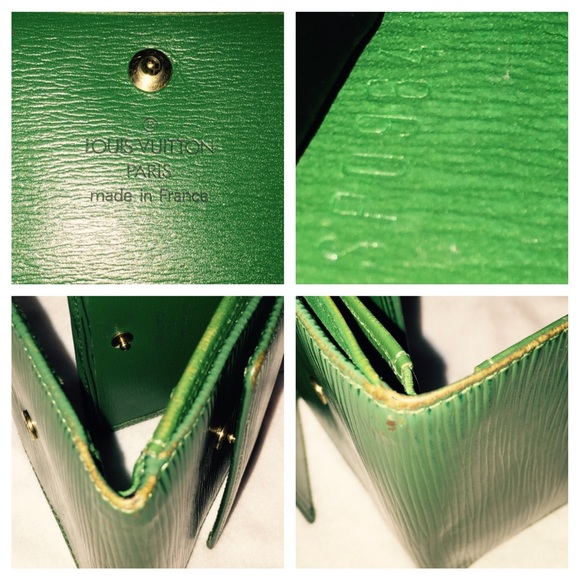 Louis Vuitton Bags - Authentic LV Epi Green double snap wallet