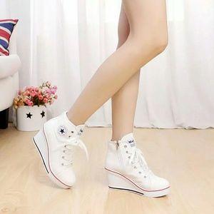 174f1f58311 Women Wedge High Heels Sneakers High Top NWT