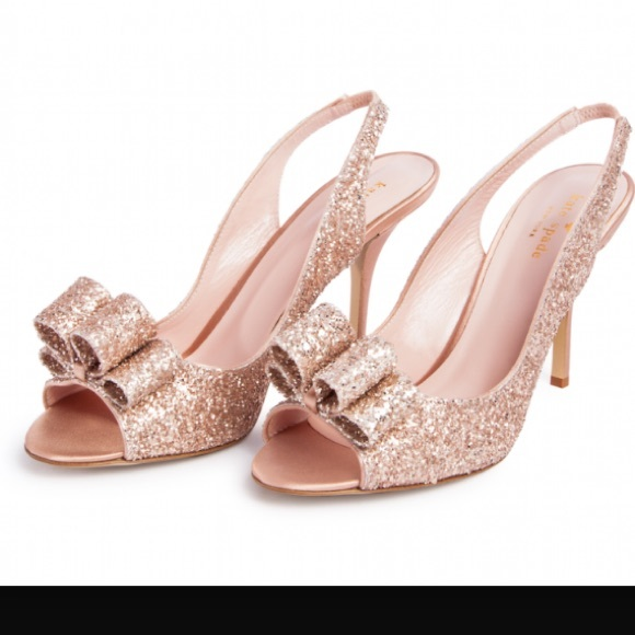 123aee76ae5 kate spade Shoes - Adorable kate spade rose gold glitter charm shoes
