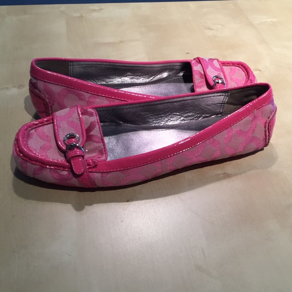 62% off Coach Shoes - Hot Pink Coach Moccasin Loafers 7.5 ...