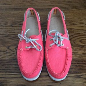 Bright Pink Sperry Top-Siders