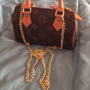 Bags - Gold chain handbag purse strap - (LV not 4 Sale)