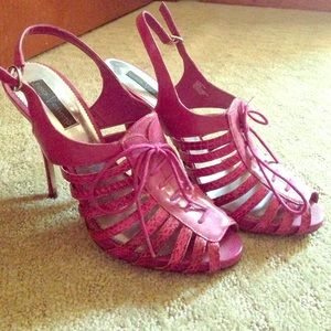 Vince Camuto Pink Strappy Heels