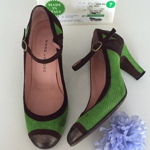 Marc Jacobs Shoes - MARC JACOBS Mary Janes Green Suede shoes