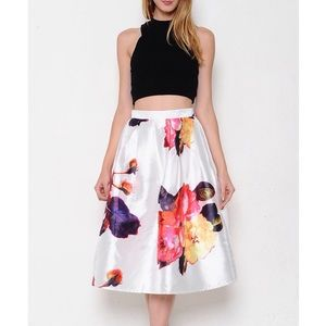 """The Beauteous Flower"" Flare Midi Skirt"