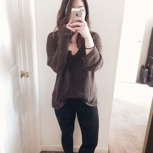 Olive green Helmut Lang knit sweater