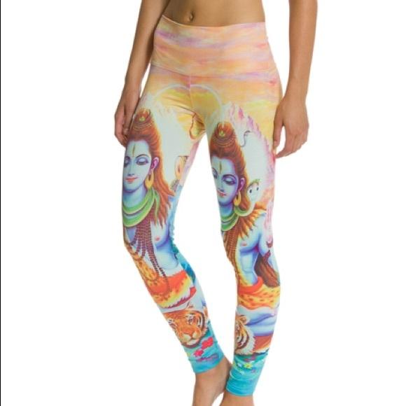 890e09889420a Om Shanti Pants   Yoga Or Fashion Leggings With Shiva   Poshmark