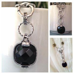 black rhinestone necklace NWOT