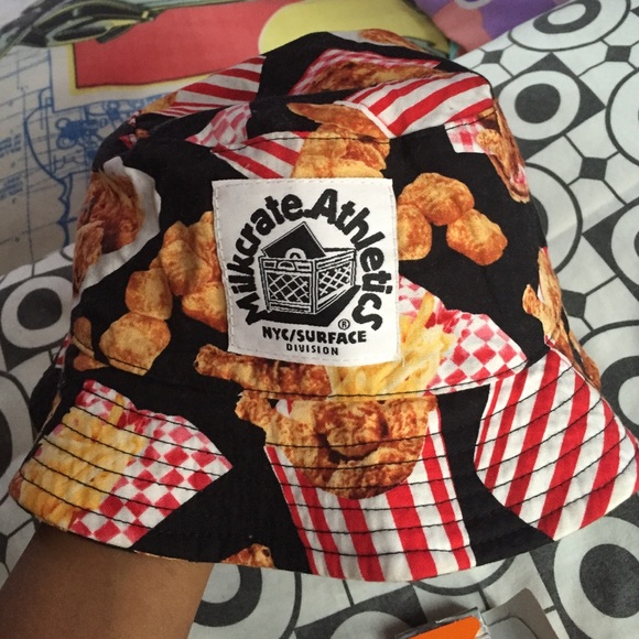 Fried Chicken Bucket Hat. M 55a2dfade7d52c091800b61d 6b49810bdb9
