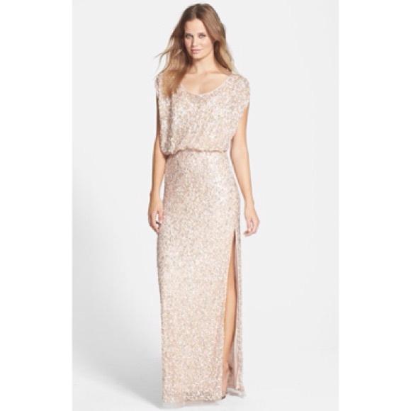 edff25b7 Dresses | Js Collections Blouson Bodice Sequin Mesh Gown | Poshmark