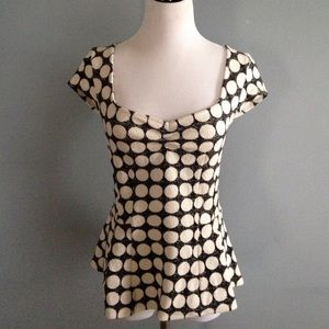 Anthropologie postmark polka dot peplum