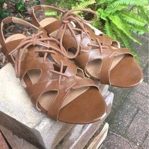Shoes - Tan American Eagle Gladiator Sandals
