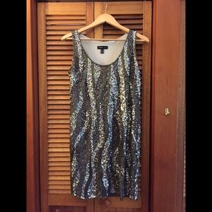 Sequined sheath dress by Mango MNG
