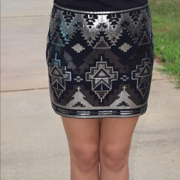 Express - Express Aztec sequin skirt from Marissa's closet on Poshmark