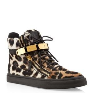 Giuseppe Zanotti Animal Cheetah Hightop Sneakers