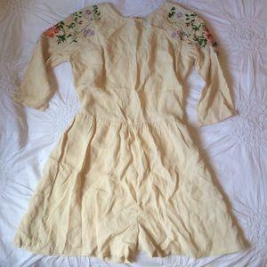 Topshop Dresses & Skirts - Topshop Cream Floral Embroidered Playsuit Romper 8