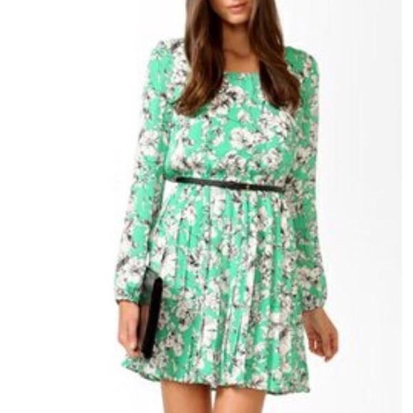 81% off Forever 21 Dresses & Skirts - Forever 21 mint green floral ...