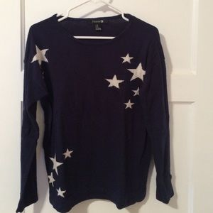 Luxe sweater with white stars printed