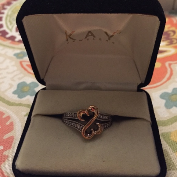 Kay Jewelers Kay Jewelers rose gold & silver open heart ring