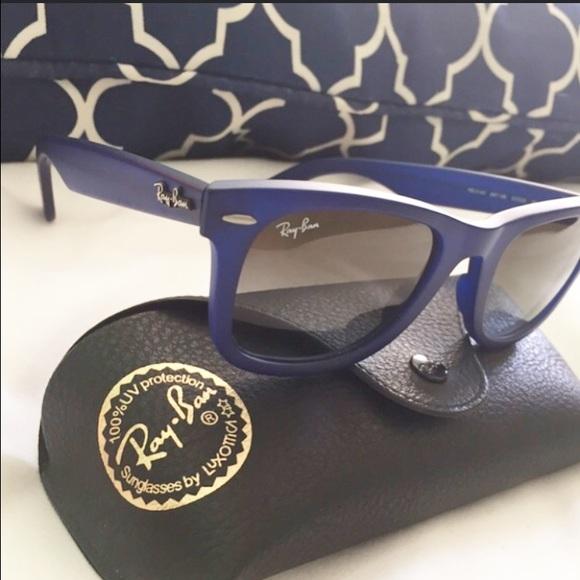91524d67fd7e5 Ray-Ban Accessories   Rayban Original Wayfarer Matte Blue   Poshmark