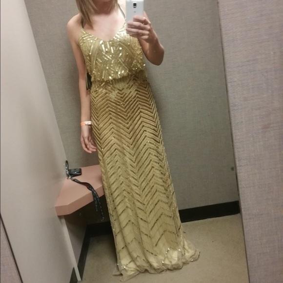 9814e709b12 Gold sequin dress. NWT. Dillards